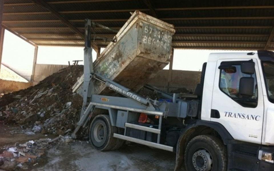 Camión de residuos